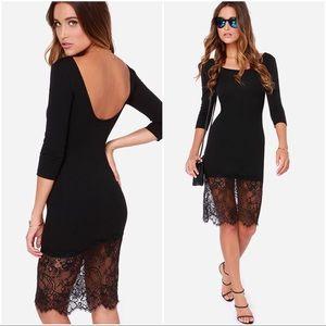 Lulu's Lace Midi Dress NWOT